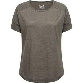 super.natural Isla T-Shirt Damen killer khaki melange